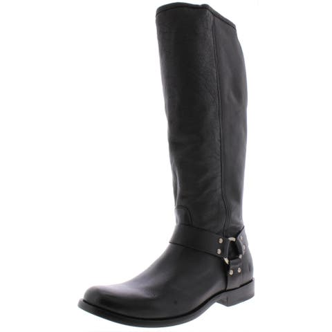 Frye Womens Phillip Riding Boots Extended Calf Knee-High