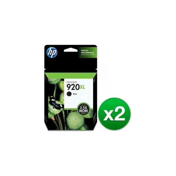 HP 920XL High Yield Black Original Ink Cartridge (CD975AN)(2-Pack)