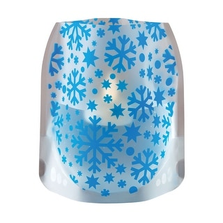Modgy Holiday Expandable Luminary Lanterns - 4 Pack with Floating LED Candles - Snowflakes - 6.5 in. x 6.5 in. x 6 in.