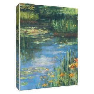 """PTM Images 9-154346  PTM Canvas Collection 10"""" x 8"""" - """"Garden Pond III"""" Giclee Flowers and Grasses Art Print on Canvas"""