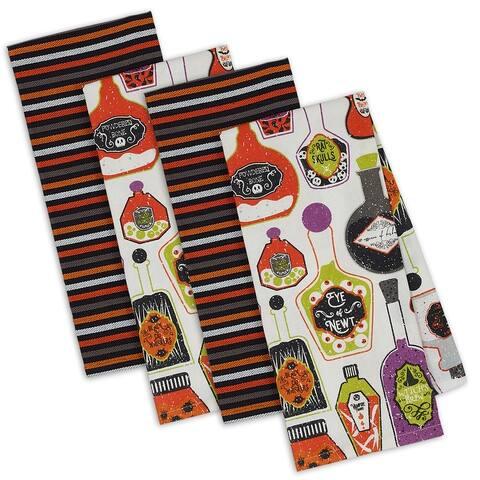 "DII Halloween Potions Dishtowel Set, 18x28"", 4 Piece"