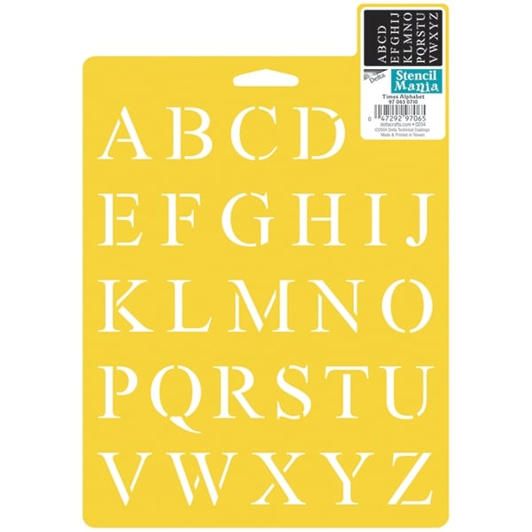 "Stencil Mania Stencil 7""X10""-Times Alphabet 1"""