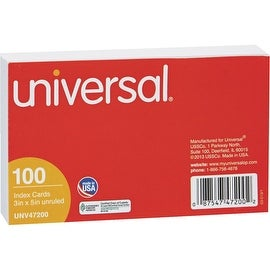 Universal 3X5 Plain Index Card