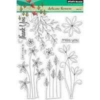 """Delicate Flowers - Penny Black Clear Stamps 5""""X7"""""""
