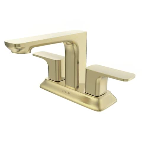 Corsica Collection. Centerset bathroom faucet. Champagne Gold finish. By Lulani