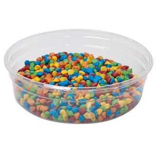 """Pack Of 250, 8 Oz Small Round Solid Clear Plastic Food Containers 40.5"""" Dia. X 1-1/4"""" Deep Made In Usa"""