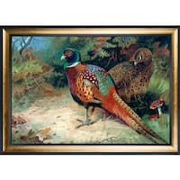 Archibald Thorburn 'Rooster and Hen, 1927' Hand Painted Oil Reproduction