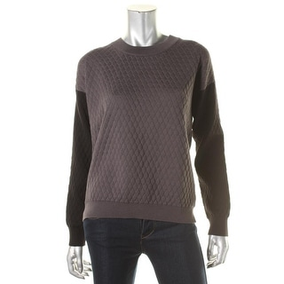 Romeo & Juliet Couture Womens Pullover Sweater Quilted Colorblock - m