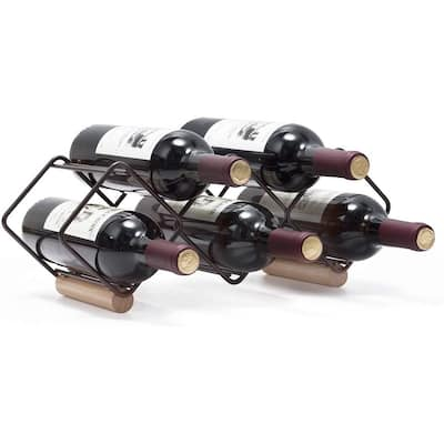 Clihome 5 Bottle Tabletop Wine Rack