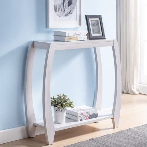 Furniture of America Clift Transitional 2-shelf Console Table