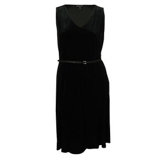 Jones New York Women's V-Neck Velvet Dress - 0X