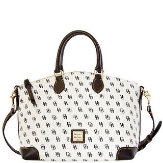Dooney & Bourke Gretta Satchel (Introduced by Dooney & Bourke at $228 in Oct 2014) - White Black