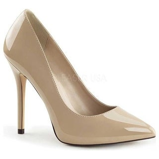 Shop Donna Pleaser Pump Amuse 22 Pointed Toe Pump Pleaser Nude Patent Free   c91b93