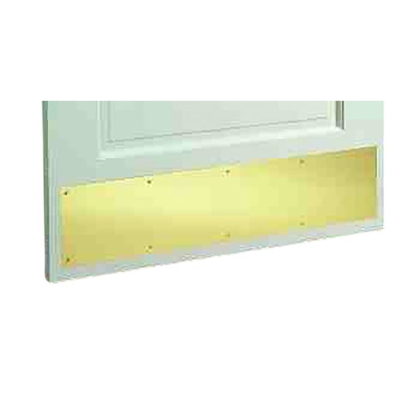 Door Kick Plate PVD Gold Stainless Steel 10 x 34 | Renovator's Supply