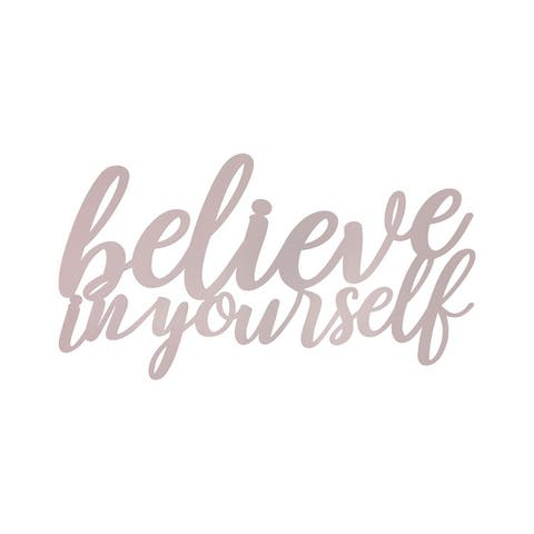 Stratton Home Decor Believe in Yourself Metal Wall Art - 22.00 X 1.00 X 12.00