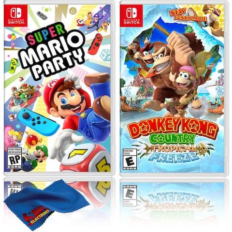 Super Mario Party + Donkey Kong Country - Two Game Bundle - Nintendo - Black