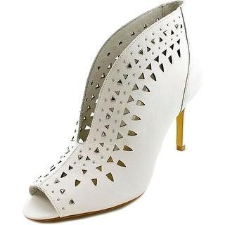 Vince Camuto Ralla Women Peep-Toe Leather White Bootie