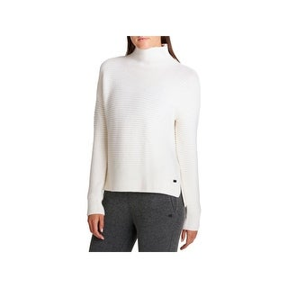 DKNY Womens Pullover Sweater Funnel Neck Casual