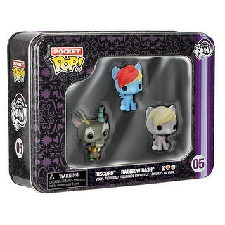 My Little Pony Funko Pocket POP Vinyl Figure 3-Pack Tin Dash, Discord, & Derpy