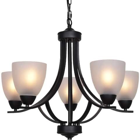 5 light alabaster glass chandelier black modern pendant light fixture