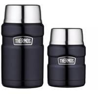 Thermos Insulated 24oz Food Jar and 16oz Food Jar w/ Folding Spoon Bundle - Blue
