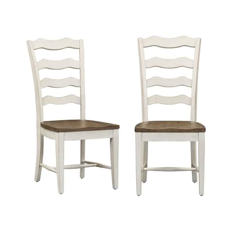 Liberty Two-tone Ladder Back Side Chairs (Set of 2)