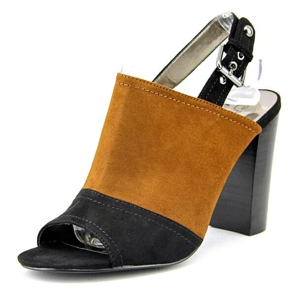 Carlos by Carlos Santana Loral Women Open-Toe Synthetic Black Slingback Heel