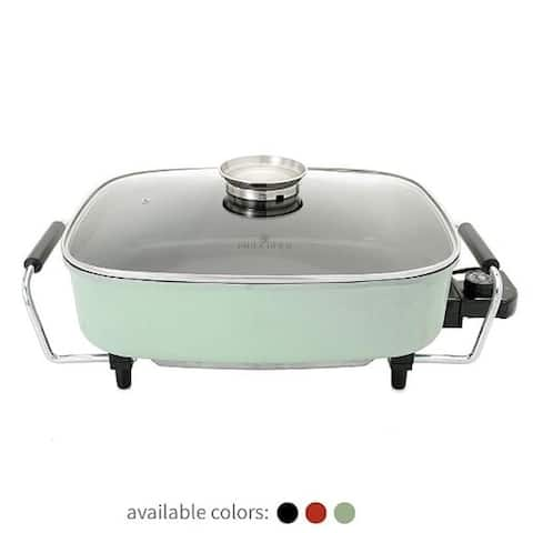 Paula Deen 15-Inch (1400 Watt) Large Electric Skillet With Glass Basting Lid