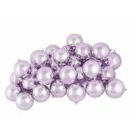 "32ct Shiny Lavender Purple Shatterproof Christmas Ball Ornaments 3.25"" (80mm)"