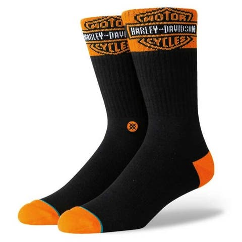 Harley-Davidson Stance Accelerate Boot Calf Height Cotton Riding Socks - Black