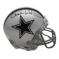 Charlie Waters Autographed Dallas Cowboys Mini Helmet JSA