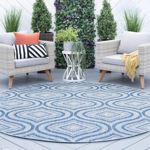 Alise Rugs Colonnade Contemporary Geometric Indoor Outdoor Area Rug