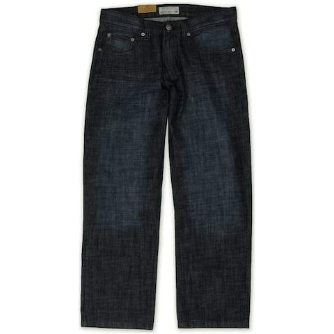 Ecko Unltd. Mens Core Coastal Relaxed Jeans, blue, 28W x 32L