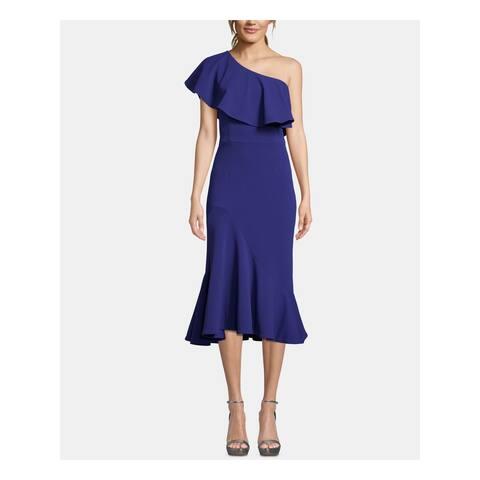 BETSY & ADAM Womens Blue Sleeveless Midi Formal Dress Size 6