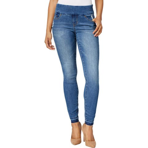 Jag Jeans Womens Petites Nora Jeggings Pull On Skinny