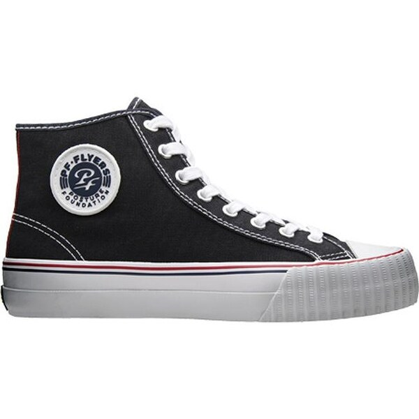 bc53e8c2d396 Shop PF Flyers Center Hi Black Canvas - On Sale - Free Shipping Today -  Overstock - 7937390