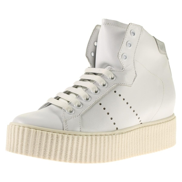 941d97780ca Steve Madden Womens Marty Fashion Sneakers Leather Covered Wedge - 8 medium  (b