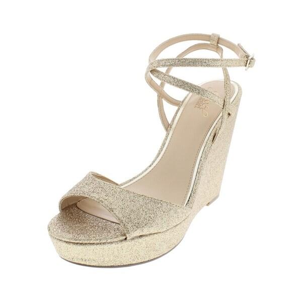 11364dca7ca Jewel Badgley Mischka Womens Ambrosia Evening Sandals Textured Shimmer - 10  Medium (B