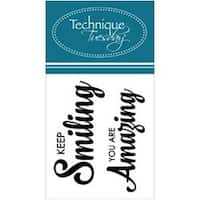 """Keep Smiling - Technique Tuesday Clear Stamps 2""""X2.5"""""""