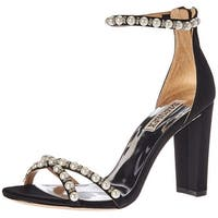 BADGLEY MISCHKA Womens Hooper Open Toe Special Occasion Ankle Strap Sandals