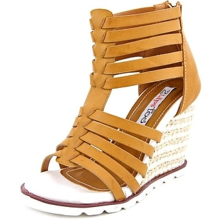Two Lips Two Humble Women Open Toe Synthetic Wedge Sandal