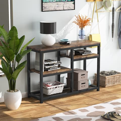 Tribesigns Console Table with 4 Storage Shelves, TV stand Sofa Table Entry Table