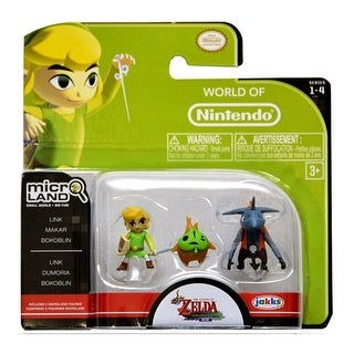 Legend of Zelda Micro Figure Set: Link, Makar, Bokoblin - multi