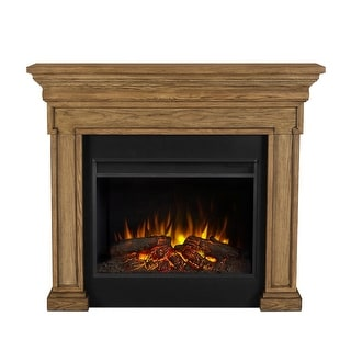 """Real Flame 6720E  Emerson 5000BTU / 1500W 56"""" Wide Free Standing Vent-Free Electric Mantel Fireplace with Remote Control"""