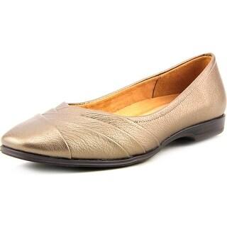 Naturalizer Jaye Women W Round Toe Leather Bronze Flats