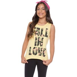Tween Girl Tank Top Graphic Tee Summer Clothes for Teens Pulla Bulla 10-16 Years