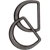 "Black Nickel - Clover D-Rings 1-3/16"" 2/Pkg"