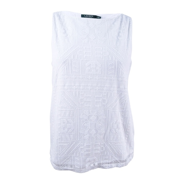 81ed98b0 Shop Lauren Ralph Lauren Women's Lace Embroidered Casual Top - White - XL -  On Sale - Free Shipping On Orders Over $45 - Overstock - 24071748