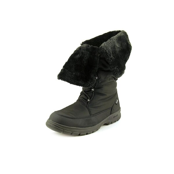 Kamik Seattle Women Round Toe Canvas Black Snow Boot