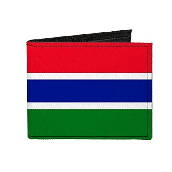 Buckle-Down Canvas Bi-fold Wallet - Gambia Flag Accessory